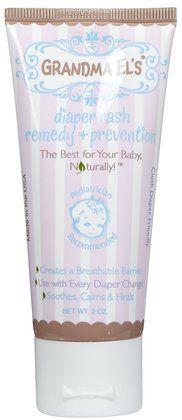Cloth diaper friendly rash creme.