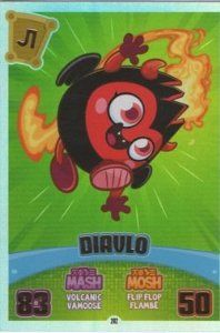 Moshi Monsters Series 3 Code Breakers No. 202 DIAVLO - Rainbow Foil Individual Trading Card #moshimonsters