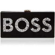 Milly Boss Box Clutch found on Polyvore featuring bags, handbags, clutches, milly handbags, box clutch, hardcase clutch and hard clutch