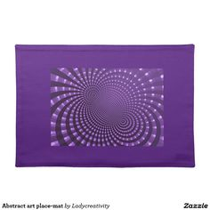 Abstract art place-mat cloth placemat