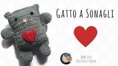 Tutorial - Gattino a sonagli #crochet #uncinetto #per filo e segno #gatto #cat #kitty #baby