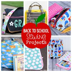 Cute Pencil Case Pattern 25 Things to Sew for Back to School-From backpacks to lunch boxes, pencil cases to art smocks-fun t Pencil Case Pattern, Pencil Case Tutorial, Cute Pencil Case, Pencil Cases, Pencil Pouch, Messenger Bag Patterns, Backpack Pattern, Backpack Tutorial, Wallet Tutorial