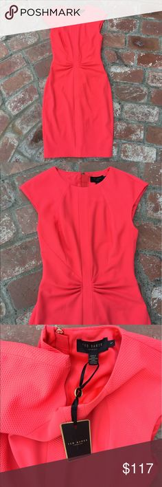 Ted Baker sexy red pencil dress NWT sz XS 1 2 P Ted Baker dress NWT!!!!  Size ted baker 1 which is equivalent to an XS or a US 0-2 Dresses Mini