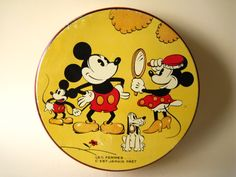 Mickey and Minnie vintage tin. Love it.