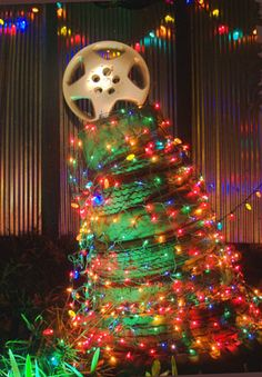 redneck christmas decor tires and hubcap treetoo funny