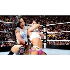 AJ Lee vs. Cameron Divas Championship Match photos ❤ liked on Polyvore featuring home, home decor and frames