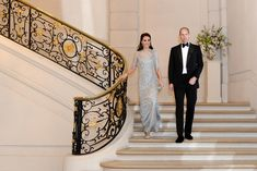 Kate wears ice blue Jenny Packham gown for Paris gala · Kate Middleton Style Blog