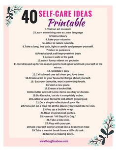 Self-care ideas/self-care printables and worksheets/self care routine/self care tips,quotes.checklist/selfcare free printables/self care