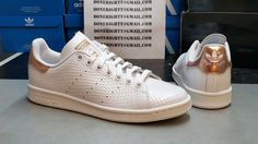 Womens Adidas Stan Smith Copper White Kettle Snakeskin Metallic Rose Gold Yeezy | eBay
