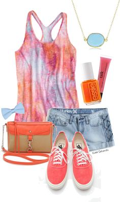 Outfits, Adorable. Love the shorts with the whole outfit, goes with the whole summer idea