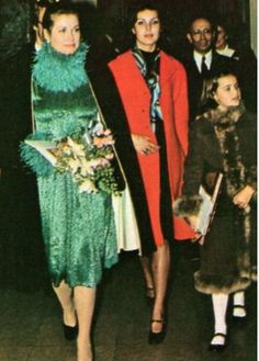 Princess Grace with her daughters Caroline and Stephianie.