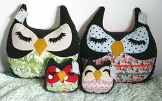 Posey the Owlet little owl pillow plushie by Smilingfrogs on Etsy, $10.00
