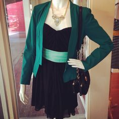 chic take on St. Patrick's Day ~ get your emerald style here #goinggreen #greenwithenvy #stpatricksday