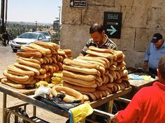 fresh bread with zaatar