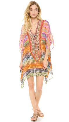 Camilla The Lares Trail Short Lace Caftan $610