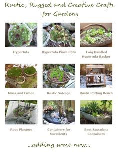 If you're addicted to making fun and creative things out of junque, and then topping it all off with some of our favorite plants, make some of these Rustic, Rugged and Creative Crafts for Gardens.