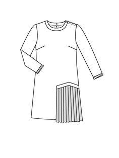 Платье расклешенного силуэта - выкройка № 121 A из журнала 8/2015 Burda – выкройки платьев на Burdastyle.ru