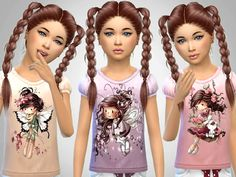 Sims 4 CC's - The Best: Girls T-Shirts by SweetDreamsZzzzz