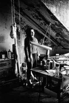Eva Hesse in her studio in 1965