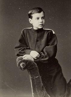 Grand Duke Dmitri Konstantinovich Romanov of Russia as a boy.