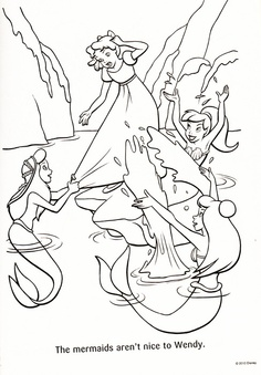 find this pin and more on my job peter pan coloring page - Peter Pan Mermaids Coloring Pages