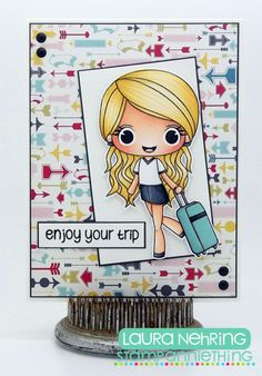 Stamp AnnieThing - Felicity Enjoy Your Trip clear stamp
