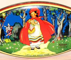 English Red Riding Hood Riley Toffee Candy Tin 1930s | eBay