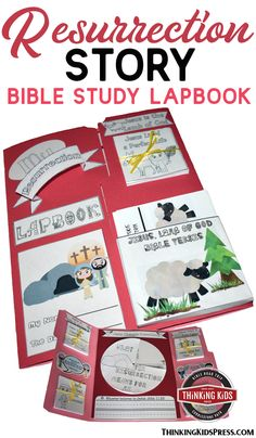 The Resurrection of Jesus Story Lapbook Help your kids understand the Resurrection of Jesus story from the Bible with this hands-on Easter lapbook Bible study. Easter Activities For Kids, Bible Crafts For Kids, Bible Lessons For Kids, Hands On Activities, Unit Studies, Bible Studies, Character Activities, Book Of Matthew, Christian Easter
