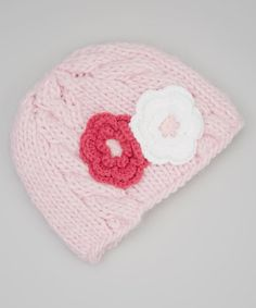 Loving this Pink Grace's Beanie on #zulily! #zulilyfinds