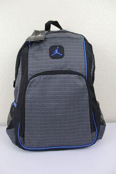 83f792117c Nike Jordan Backpack Bookbag School Bag Laptop Bag Lt. Graphite Black Gray