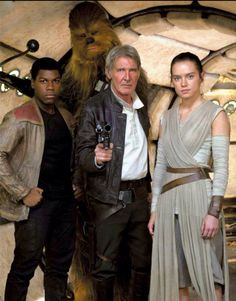"Star Wars ""The Force Awakens"" Finn, Chewbacca, Han Solo & Rey!"