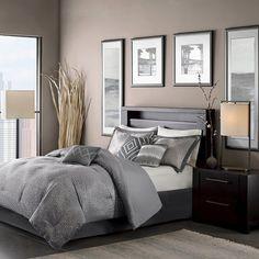 Grey Garner Modern Diamond Multiple Piece Comforter Set (Queen) - 7 Piece