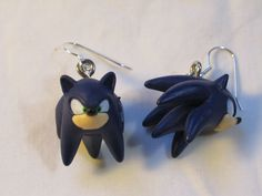 Sonic the Hedgehog Earrings - Sonic. $7.00, via Etsy.