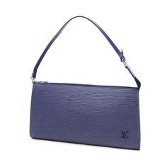 Louis Vuitton Pochette Accessoires  Epi Handle bags Blue Leather M52945