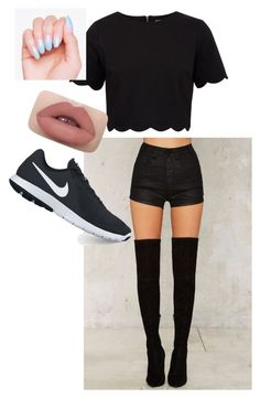 """Weekend 🌈💙💚🖤❤️💛💜"" by karin-humhalova on Polyvore featuring OneTeaspoon, Ted Baker and NIKE"
