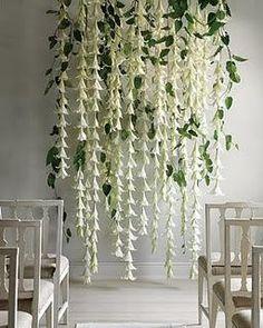 Flower Backdrop - calling all crafty bees! :  wedding backdrop decor diy flowers reception Maratha Stewart Weddings
