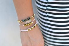Gorgeous bracelets from a company that employs at risk youth who are paying their way through college.