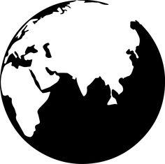globe clip art black and white google search siluete pinterest rh pinterest com globe clipart black and white vector world globe clipart black and white