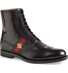 0bd0683ff4432b Gucci 'Strand' Wingtip Boot (Men) | Nordstrom. Stivali Da UomoUomo Gucci Scarpe ...