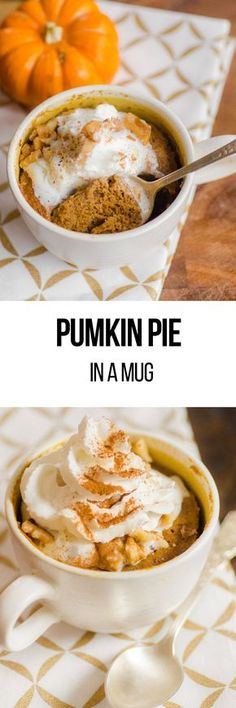 Thanksgiving is considered the biggest foodie holiday and many of us can't wait to get our hands on a slice of pumpkin pie, so we've made our pie to go in a cup. This Pumpkin pie in a mug recipe consists of gingersnaps, pumpkin puree, brown sugar and pumpkin pie spice.