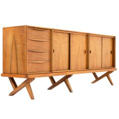 Fristho Credenza with Crossed Leg Base by Rudolf Glatzel 1960 | From a unique collection of antique and modern credenzas at http://www.1stdibs.com/furniture/storage-case-pieces/credenzas/
