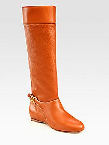Chloé - Flat Knee-High Leather Boots