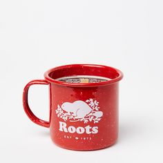 Roots Red Campfire Candle