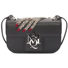 Alexander McQueen Jewelled Hand Insignia Cross Body Bag (€1.605) ❤ liked on Polyvore featuring bags, handbags, shoulder bags, jeweled purse, embellished handbags, cross body, crossbody shoulder bags and alexander mcqueen handbags