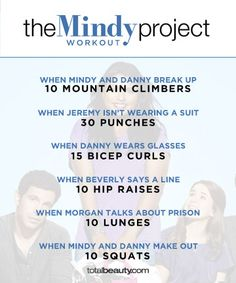"TV-Inspired Workouts ""The Mindy Project"""