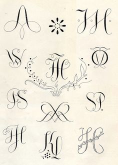 Embroidery monogram patterns from 1950 :: by Vakuoli