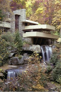 Frank Lloyd Wright seamlessly integrates architecture into nature at Fallingwater