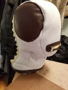 Process of conceiving new sheepskin bondage mask by Fur Barmalej