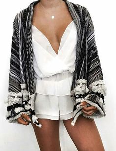 Mix warm knitted outfits with lace and sexy rompers