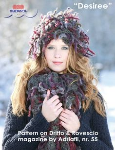Not a #fur but it looks like...#DIABLO #yarn by #Adriafil, a brand new yarn for enriching your #winter season http://www.adriafil.com/uk/scheda-filato.html?id_cat=13&id_gr=3&id_filato=DB  Desiree #pattern #hat and #scarf is included into Dritto&Rovescio #magazine by Adriafil, nr. 55. Purchase it online at the following link! http://www.adriafil.com/uk/scheda-rivista.html?id_rivista=55